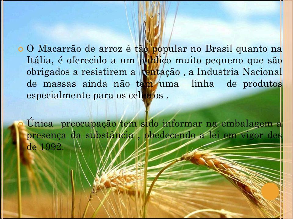 O Macarrão de arroz é tão popular no Brasil quanto na Itália, é oferecido a um publico muito pequeno que são obrigados a resistirem a tentação, a Indu