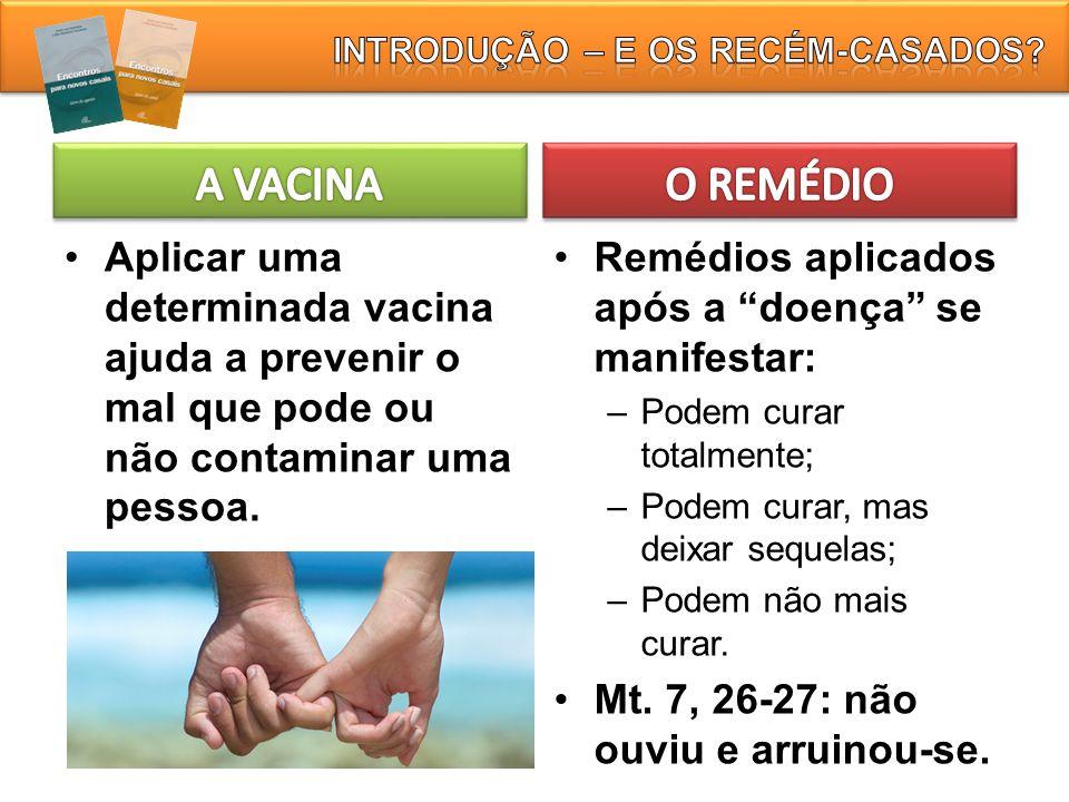 """Aplicar uma determinada vacina ajuda a prevenir o mal que pode ou não contaminar uma pessoa. Remédios aplicados após a """"doença"""" se manifestar: – Podem"""