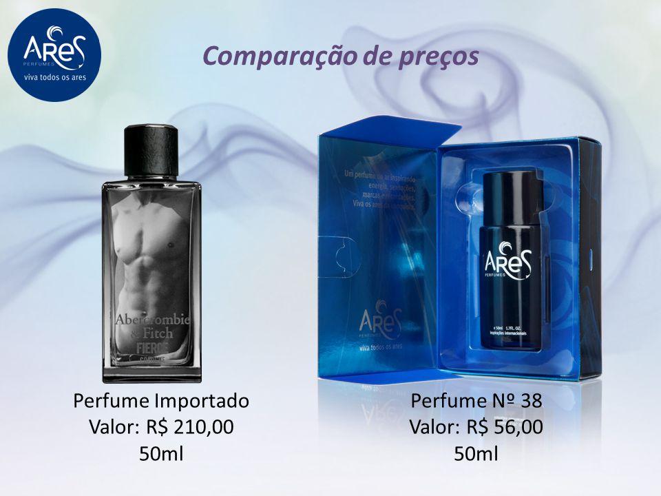 Perfume Importado Valor: R$ 210,00 50ml Perfume Nº 38 Valor: R$ 56,00 50ml Comparação de preços