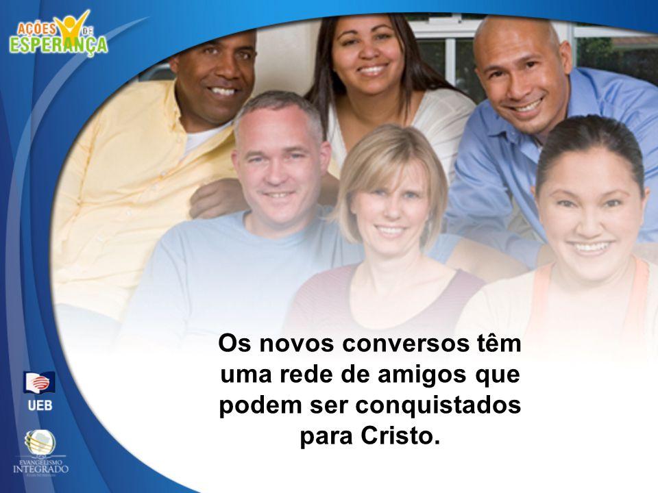 Os novos conversos têm uma rede de amigos que podem ser conquistados para Cristo.