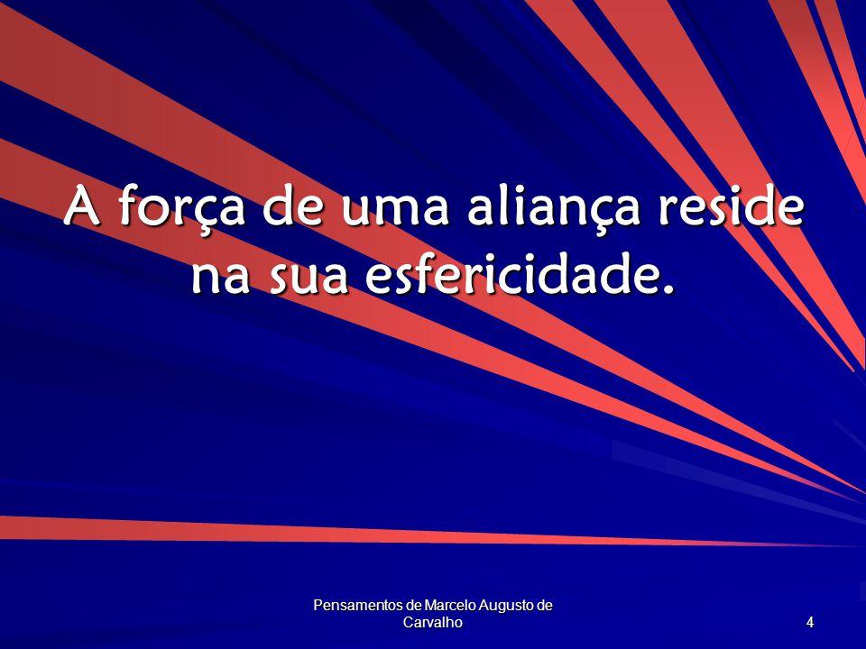 Pensamentos de Marcelo Augusto de Carvalho 4 A força de uma aliança reside na sua esfericidade.