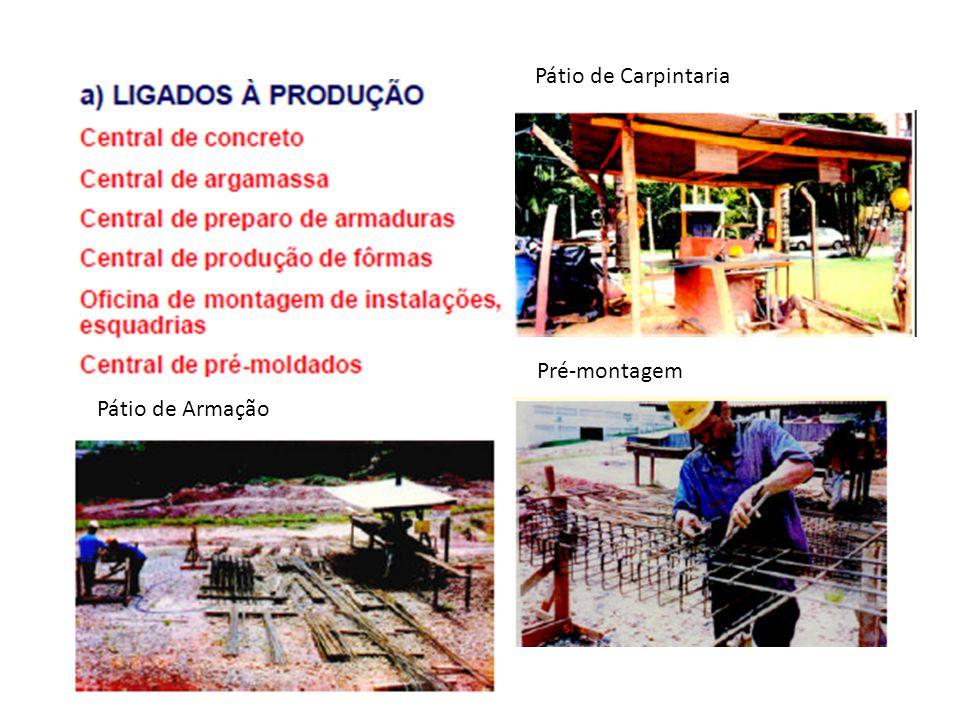Pátio de Carpintaria Pátio de Armação Pré-montagem