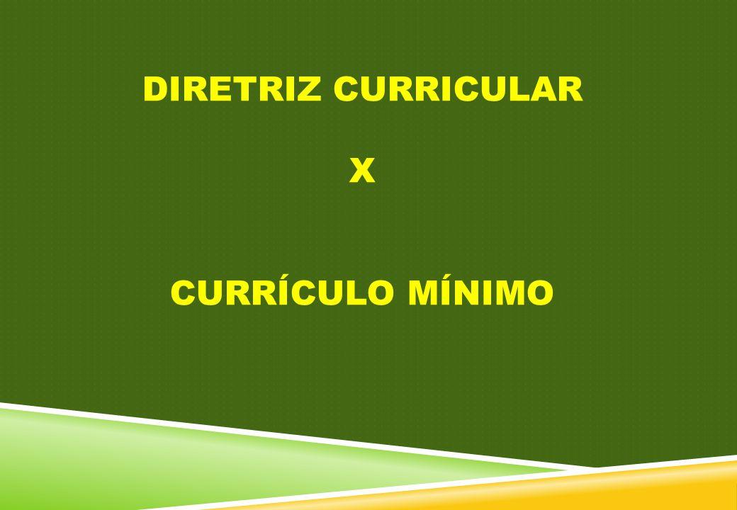 DIRETRIZ CURRICULAR X CURRÍCULO MÍNIMO