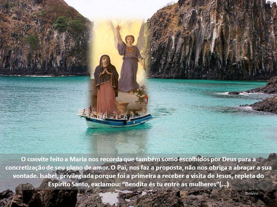 O convite feito a Maria nos recorda que também somo escolhidos por Deus para a concretização de seu plano de amor.