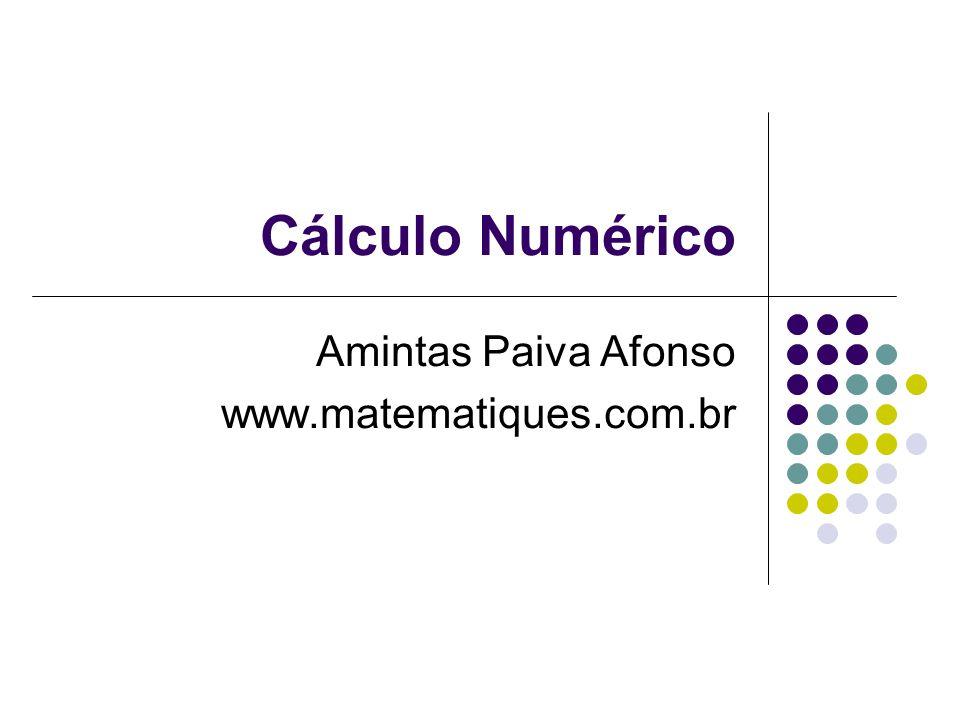 Cálculo Numérico Amintas Paiva Afonso www.matematiques.com.br