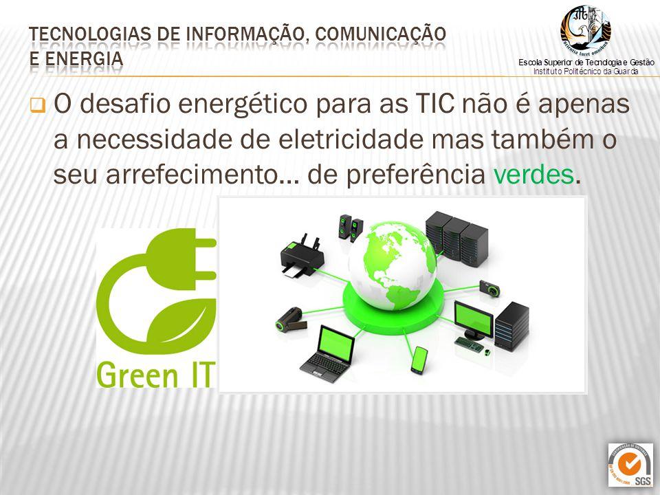  O desafio energético para as TIC não é apenas a necessidade de eletricidade mas também o seu arrefecimento… de preferência verdes.