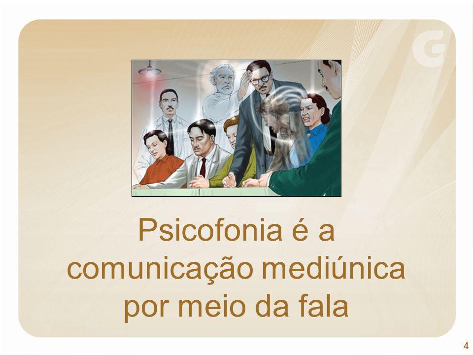 4 Psicofonia é a comunicação mediúnica por meio da fala