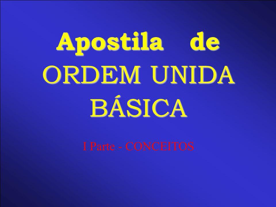 Apostila de ORDEM UNIDA BÁSICA I Parte - CONCEITOS