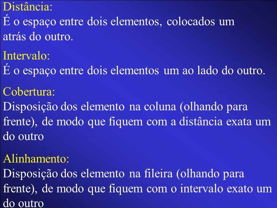 Linha: Disposição dos elementos um ao lado (ou atrás) do outro.Como se traçássemos uma linha imaginária.