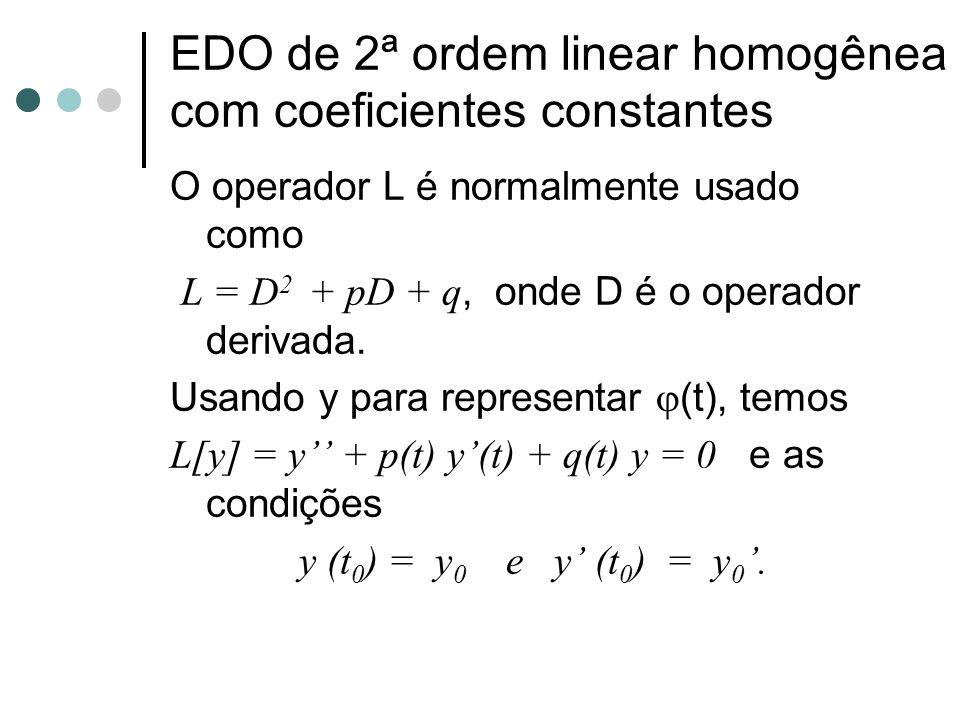 Dada a equação não homogênea L[y] = y + p(t)y' + q(t)y = g(t) (5) onde p, q e g são funções contínuas em um intervalo aberto I.