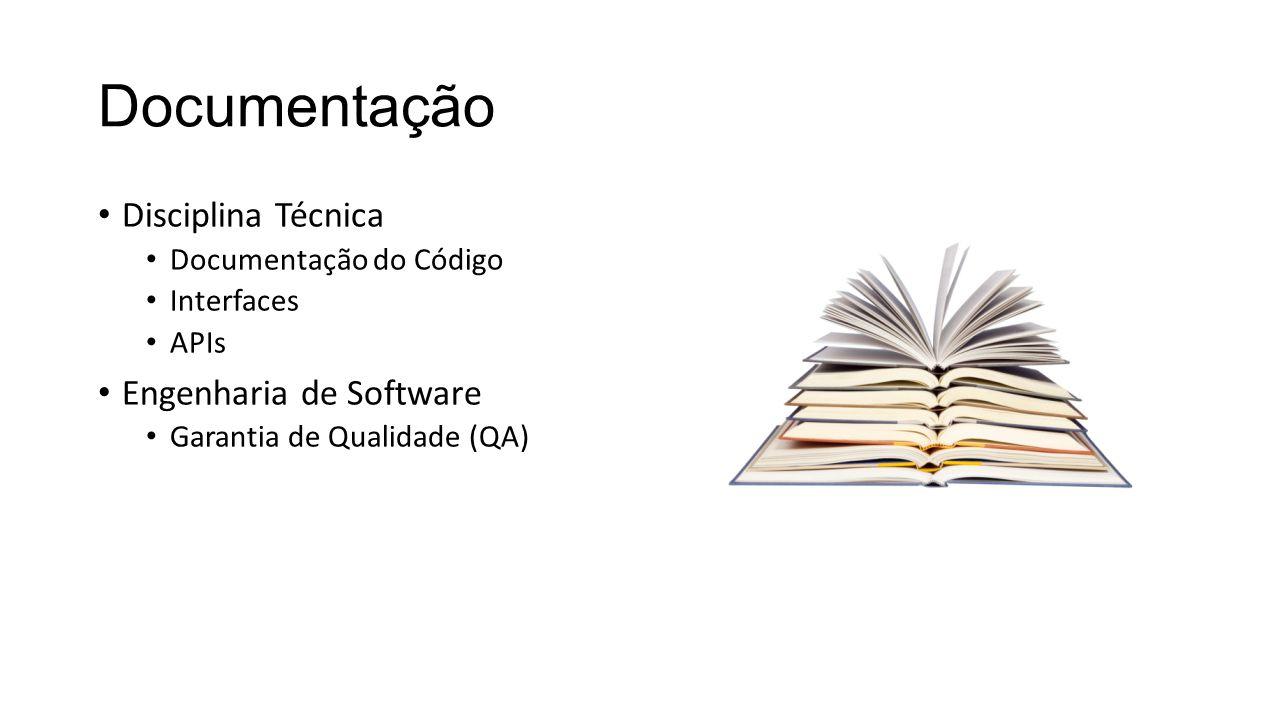 Documentação Disciplina Técnica Documentação do Código Interfaces APIs Engenharia de Software Garantia de Qualidade (QA)