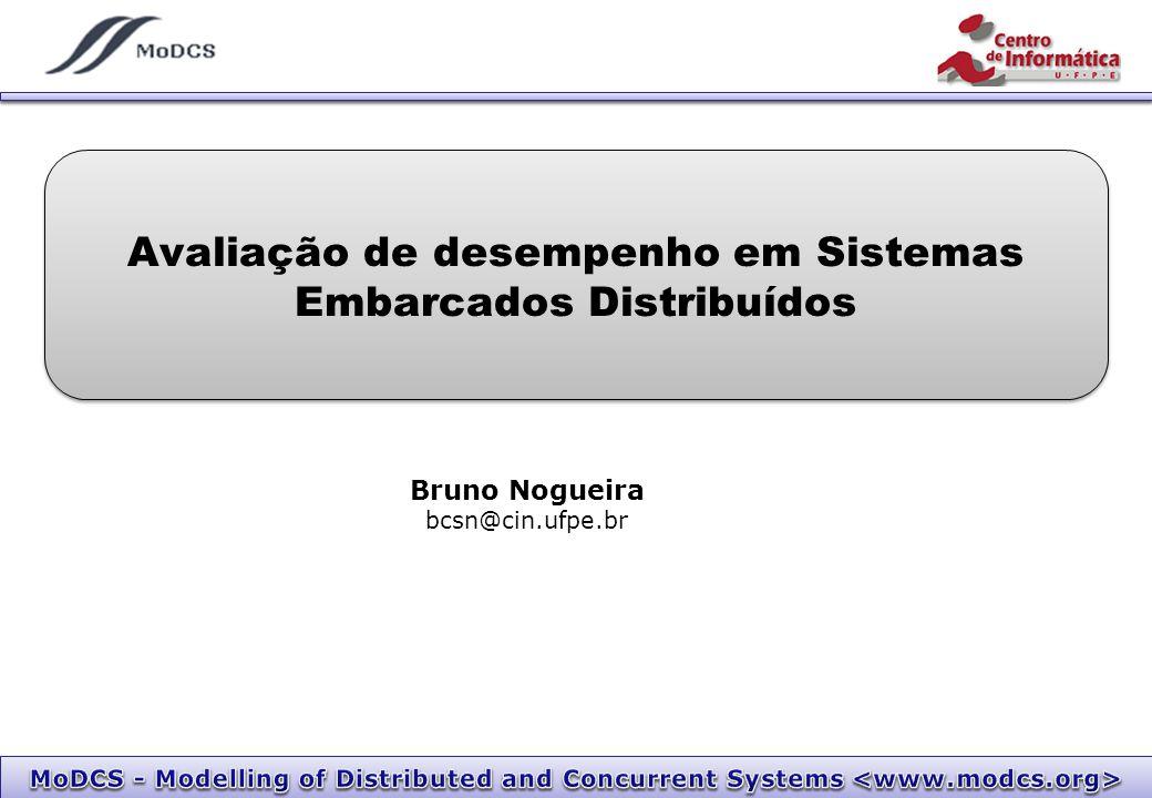 Avaliação de desempenho em Sistemas Embarcados Distribuídos Bruno Nogueira bcsn@cin.ufpe.br