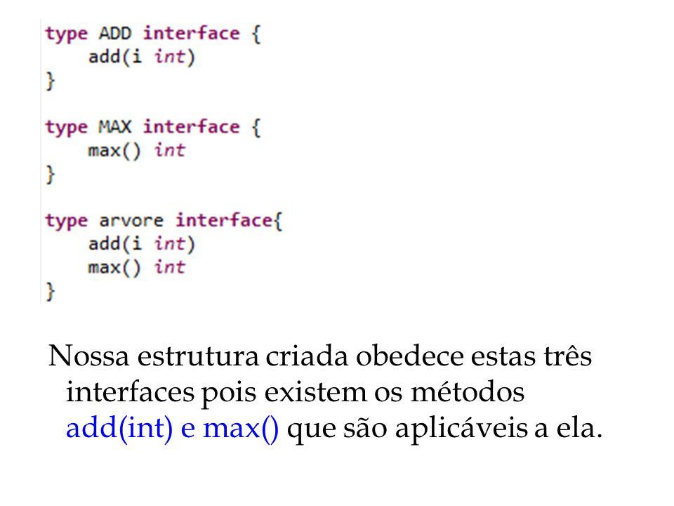 Repare que a função não recebeu nossa estrutura criada, mas sim a interface...
