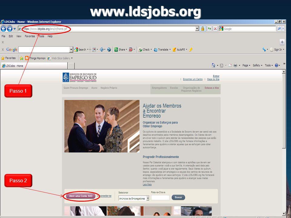 www.ldsjobs.org Exemplo: Empregadores cadastrados no Paraná