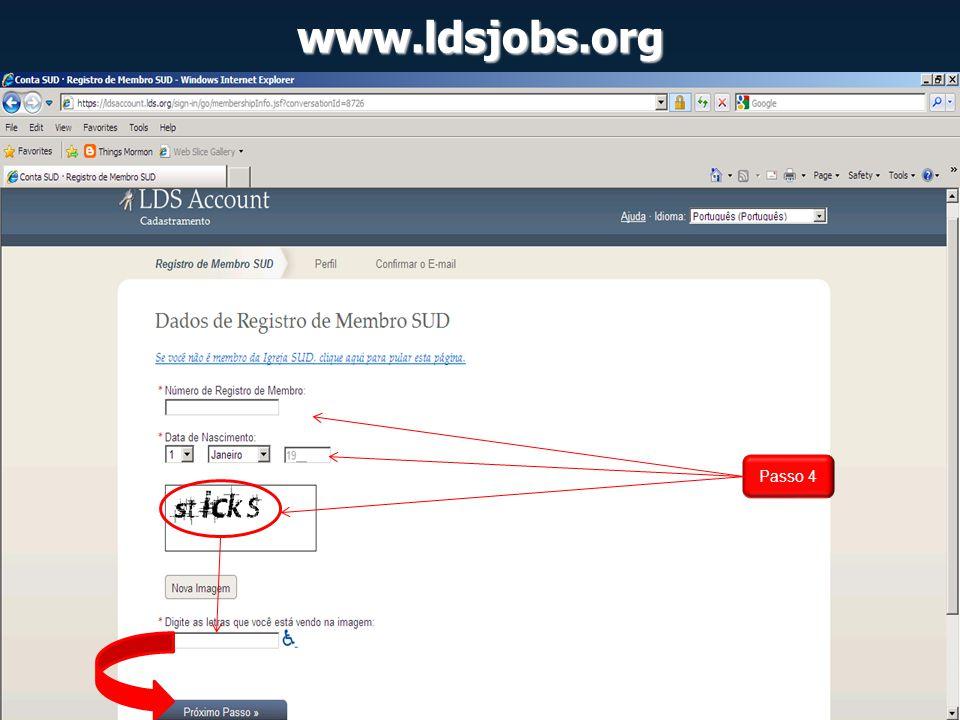 www.ldsjobs.org Passo 4