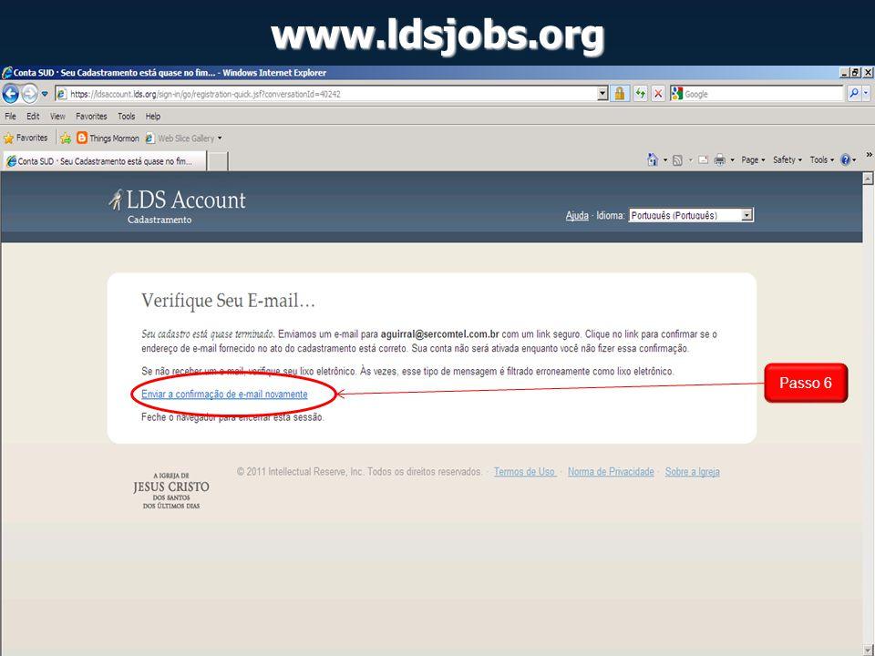 www.ldsjobs.org Exemplo de como anunciar Vaga: