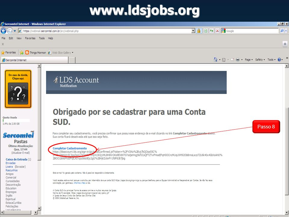 www.ldsjobs.org Passo 8