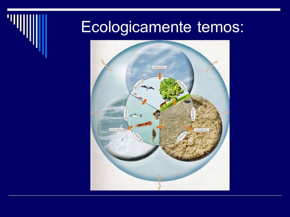Ecologicamente temos: