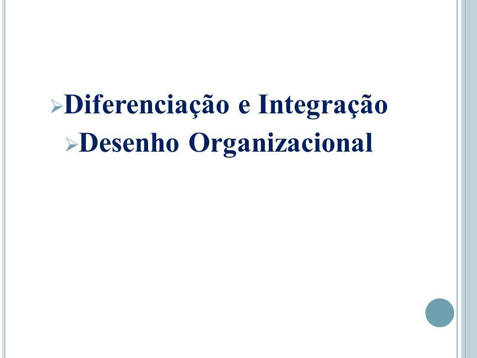  Diferenciação e Integração  Desenho Organizacional