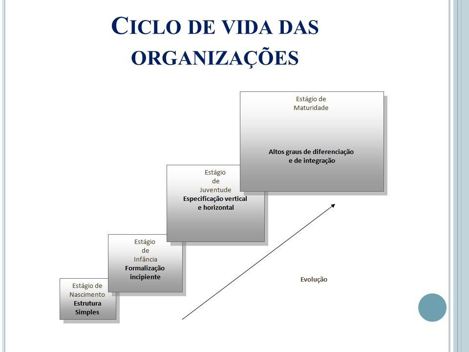 C ICLO DE VIDA DAS ORGANIZAÇÕES