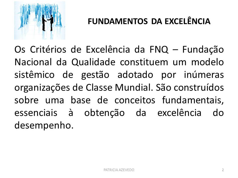 FUNDAMENTOS DA EXCELÊNCIA Os Critérios de Excelência da FNQ – Fundação Nacional da Qualidade constituem um modelo sistêmico de gestão adotado por inúm