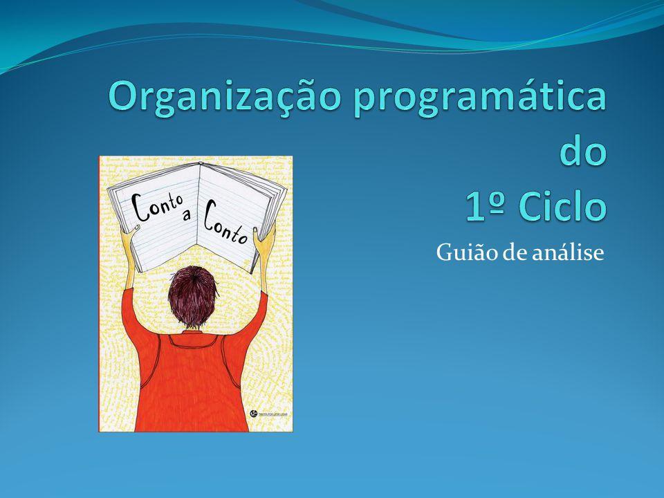 1.Organização do programa do 1º ciclo O 1º Ciclo organiza-se em dois momentos distintos (página 22): 1º e 2º anos; 3º e 4º anos.