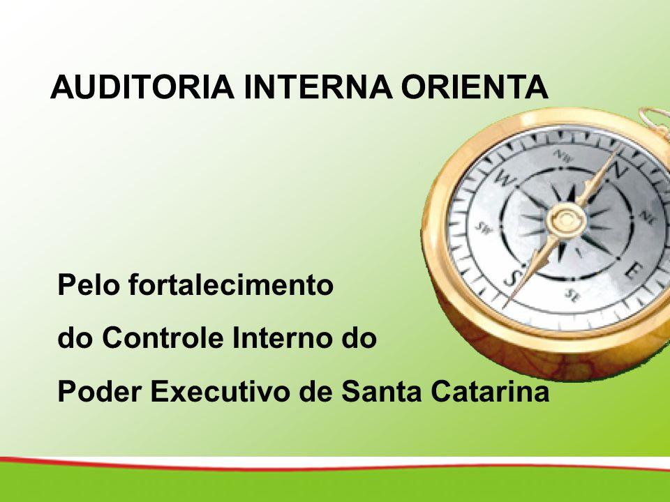 AUDITORIA INTERNA ORIENTA Pelo fortalecimento do Controle Interno do Poder Executivo de Santa Catarina