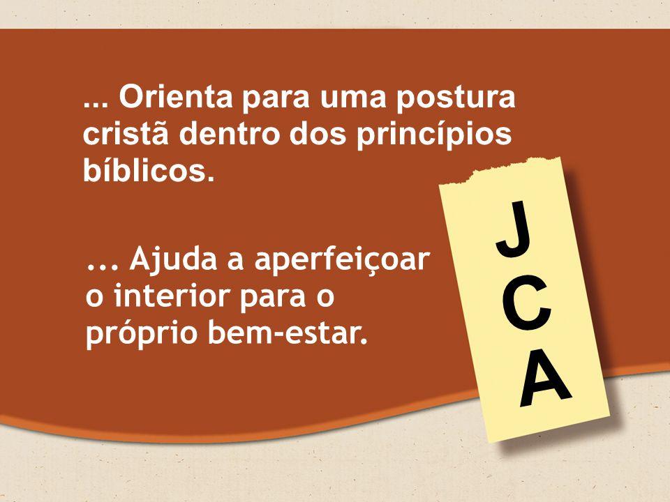 ...Orienta para uma postura cristã dentro dos princípios bíblicos....