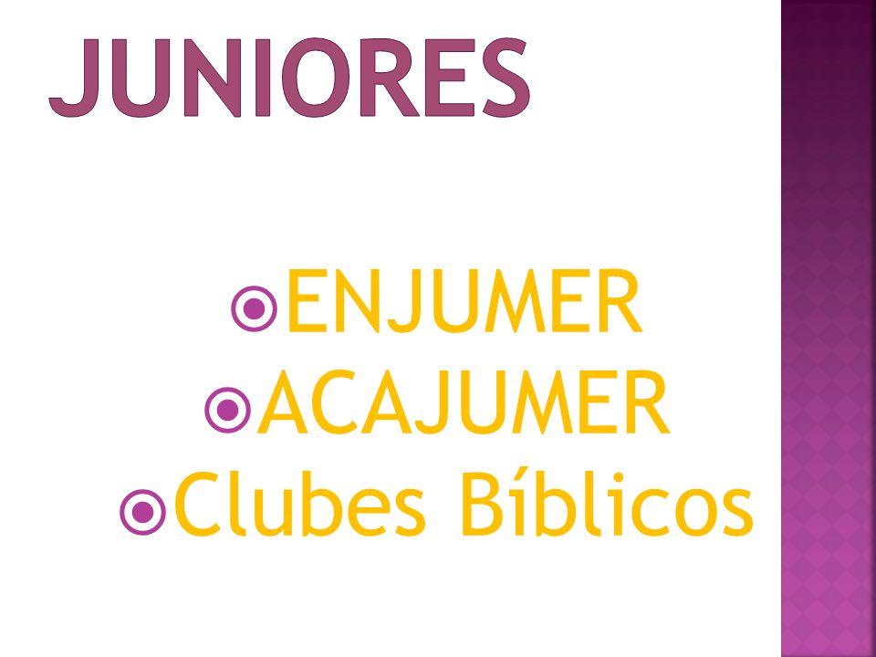  ENJUMER  ACAJUMER  Clubes Bíblicos