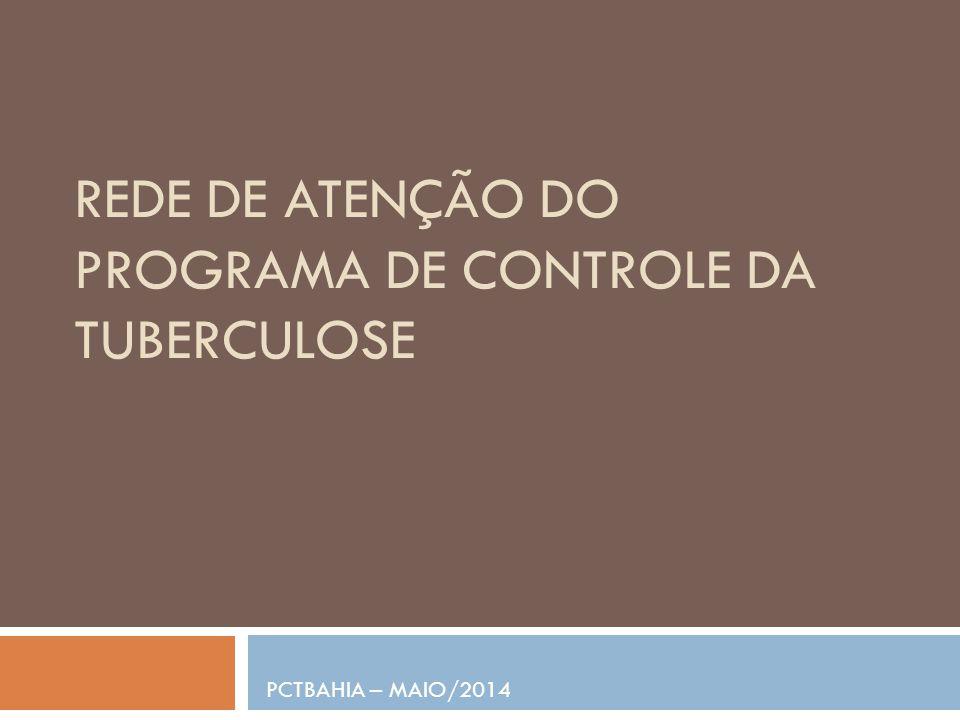 REDE DE ATENÇÃO DO PROGRAMA DE CONTROLE DA TUBERCULOSE PCTBAHIA – MAIO/2014