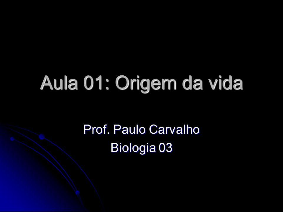 Aula 01: Origem da vida Prof. Paulo Carvalho Biologia 03