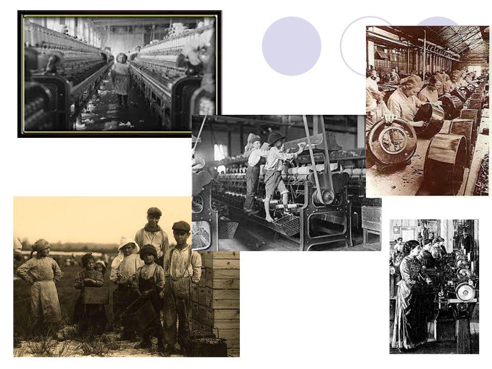  Houve a invenção de diversas máquinas movidas a vapor.  Os trabalhadores das fábricas recebiam salários baixos, enfrentam péssimas condições de tra