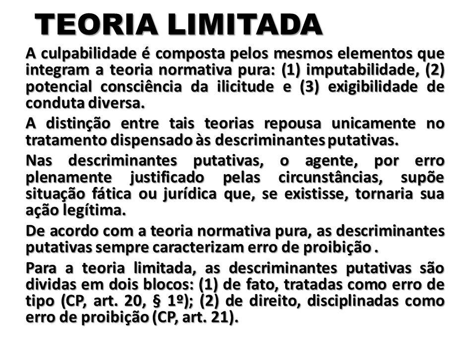 TEORIA ADOTADA PELO CÓDIGO PENAL HÁ FORTE DISCUSSÃO DOUTRINÁRIA, todavia, é possível afirmar que o Código Penal em vigor acolheu a teoria limitada da culpabilidade.