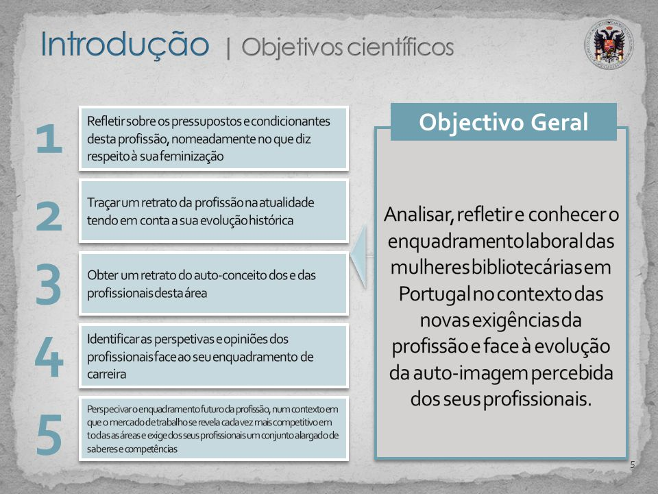 1 2 3 Objectivo Geral 4 5 5