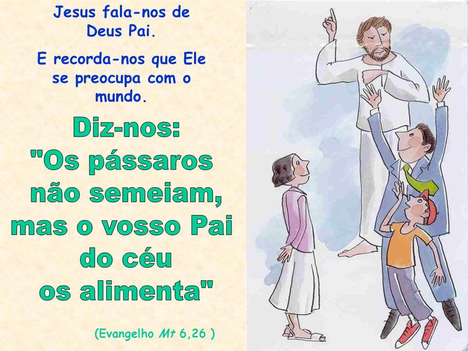 Jesus fala-nos de Deus Pai. E recorda-nos que Ele se preocupa com o mundo. (Evangelho Mt 6,26 )