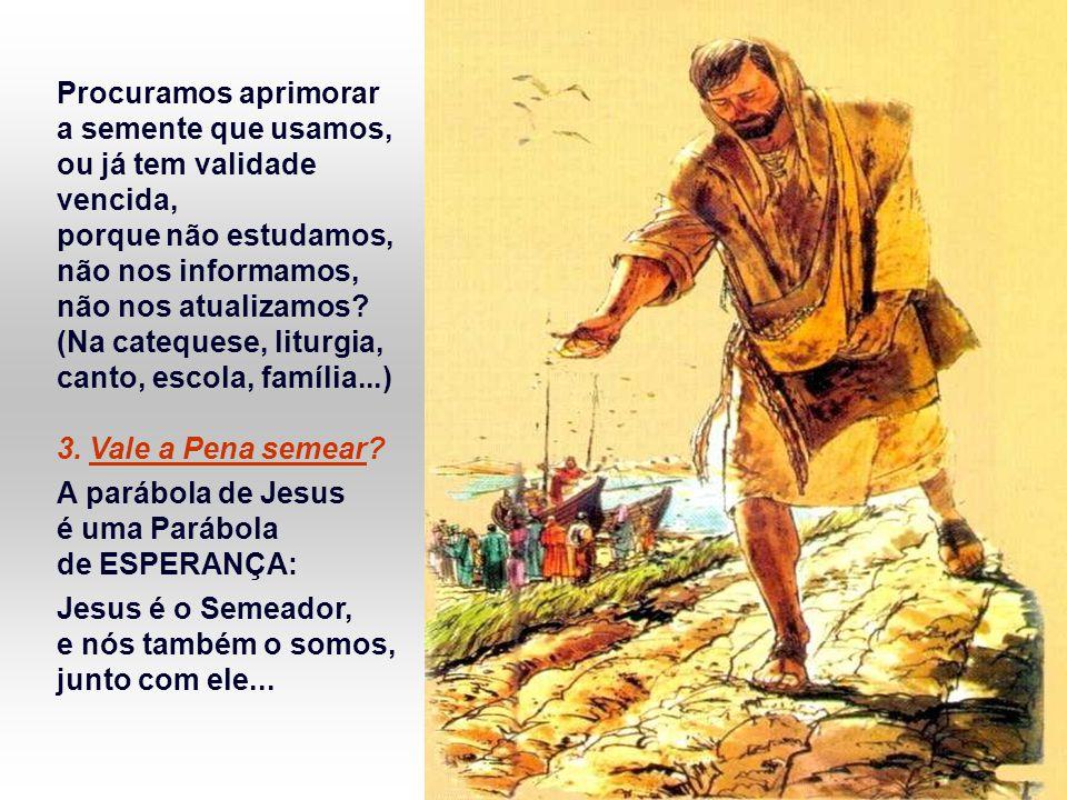 + A Parábola nos propõe TRÊS PERGUNTAS: 1.Que terreno somos nós .