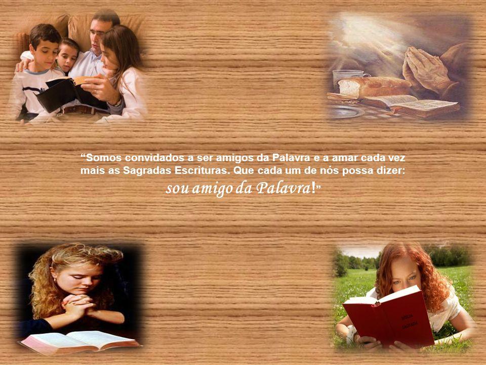 """""""Podemos ver, ouvir, tocar e contemplar Jesus, o Verbo da vida. Ouvindo sua voz, ouvimos o Pai. Jesus é o 'alto-falante"""" do Pai. Fala o que o Pai mand"""