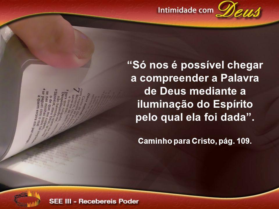 Só nos é possível chegar a compreender a Palavra de Deus mediante a iluminação do Espírito pelo qual ela foi dada .