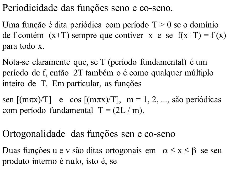 As funções sen [(m  x)/T] e cos [(m  x)/T], m = 1, 2,...
