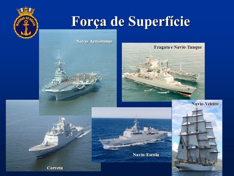 Força de Superfície Navio-Aeródromo Fragata e Navio-Tanque Corveta Navio-Veleiro Navio-Escola