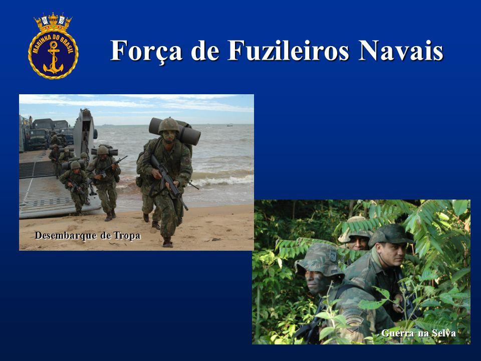 Força de Fuzileiros Navais Patrulha Guerra na Selva Desembarque de Tropa