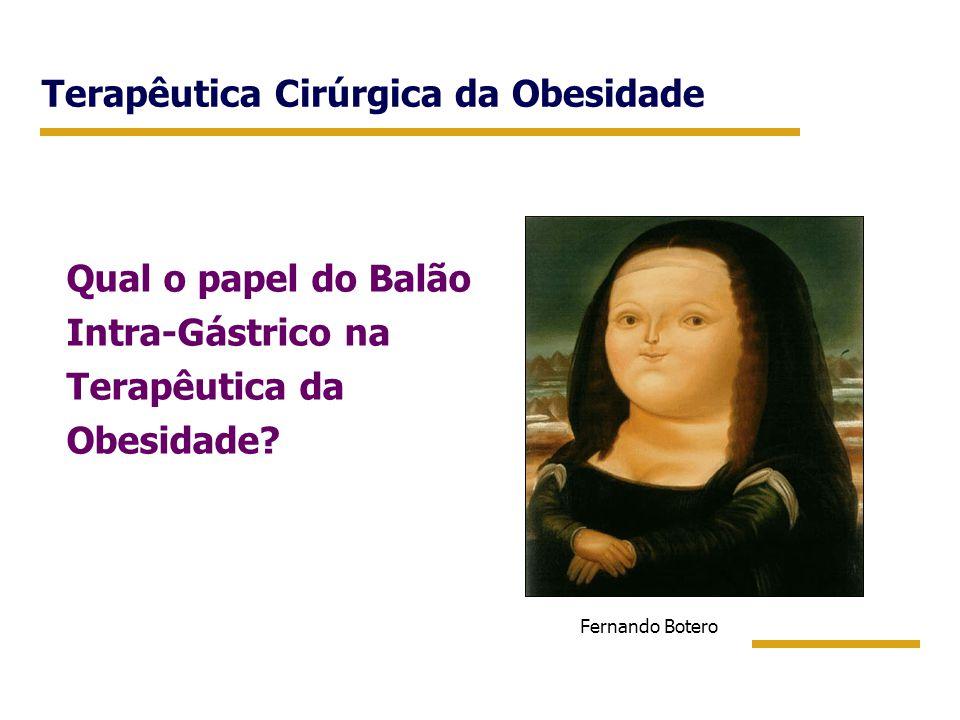 Terapêutica Cirúrgica da Obesidade Qual o papel do Balão Intra-Gástrico na Terapêutica da Obesidade? Fernando Botero