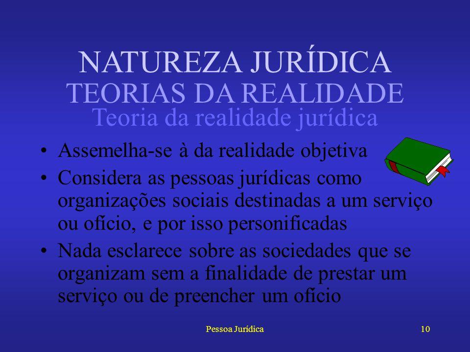 Pessoa Jurídica9 Entendem seus adeptos, especialmente Ihering, que a personificação dos grupos sociais é um expediente de ordem técnica É a forma pela