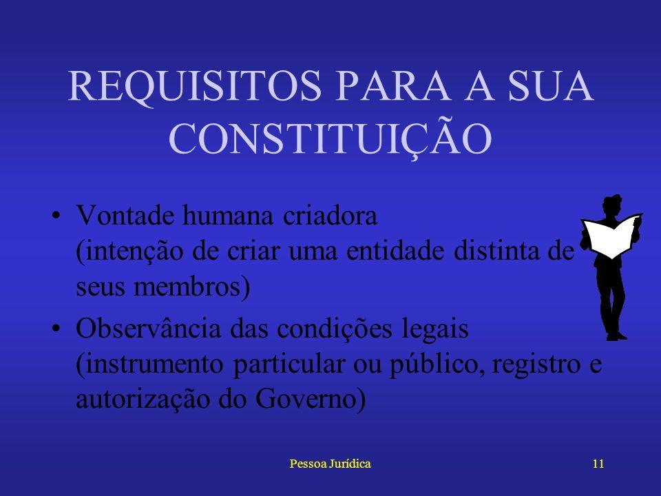 Pessoa Jurídica10 Assemelha-se à da realidade objetiva Considera as pessoas jurídicas como organizações sociais destinadas a um serviço ou ofício, e p