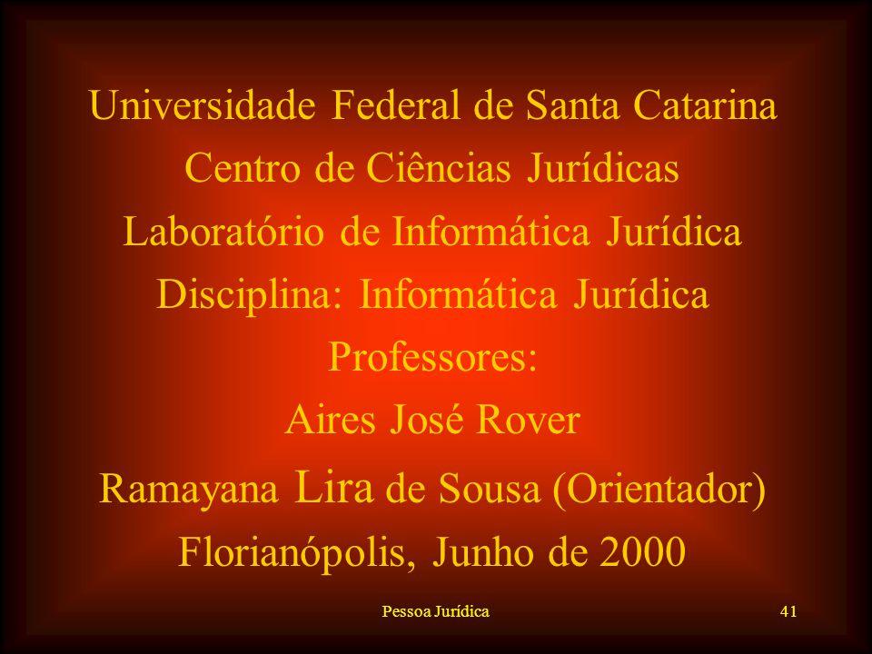 Pessoa Jurídica40 EXTINÇÃO –Administrativa: quando as pessoas jurídicas dependem de aprovação ou autorização do Poder Público e praticam atos nocivos