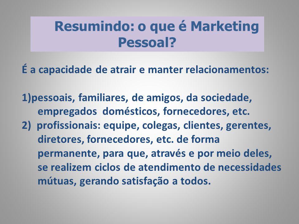  Independentemente da idade, gênero ou profissão, é preciso formular o seu programa de marketing pessoal.