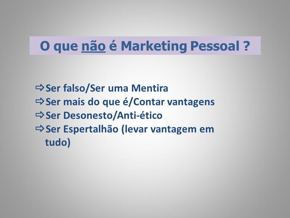 Quais são então as medidas de Sucesso de Marketing Pessoal.