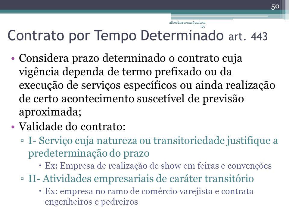 Contrato por Tempo Determinado art.