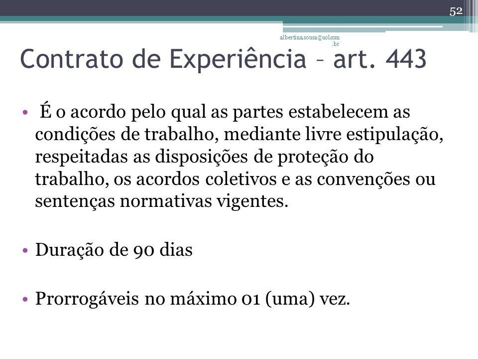 Contrato de Experiência – art.