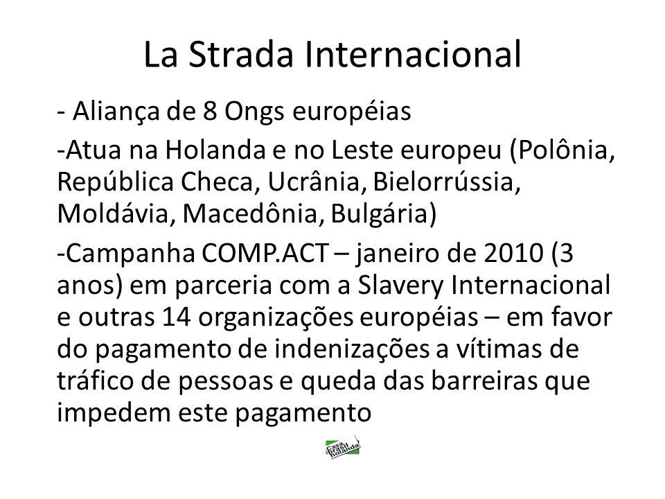 La Strada Internacional - Aliança de 8 Ongs européias -Atua na Holanda e no Leste europeu (Polônia, República Checa, Ucrânia, Bielorrússia, Moldávia,